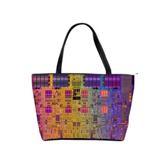 Circuit Board Pattern Lynnfield Die Shoulder Handbags by Simbadda