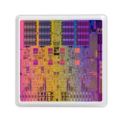 Circuit Board Pattern Lynnfield Die Memory Card Reader (square)  by Simbadda