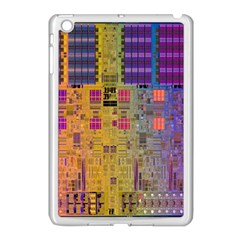 Circuit Board Pattern Lynnfield Die Apple Ipad Mini Case (white) by Simbadda