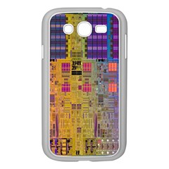Circuit Board Pattern Lynnfield Die Samsung Galaxy Grand Duos I9082 Case (white) by Simbadda