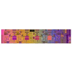 Circuit Board Pattern Lynnfield Die Flano Scarf (small) by Simbadda