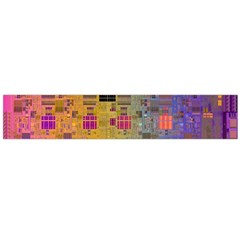 Circuit Board Pattern Lynnfield Die Flano Scarf (large) by Simbadda