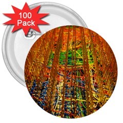 Circuit Board Pattern 3  Buttons (100 Pack)  by Simbadda