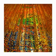 Circuit Board Pattern Medium Glasses Cloth (2 Side) by Simbadda