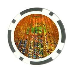 Circuit Board Pattern Poker Chip Card Guard by Simbadda