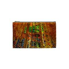 Circuit Board Pattern Cosmetic Bag (small)  by Simbadda