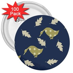 Duck Tech Repeat 3  Buttons (100 Pack)  by Simbadda