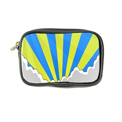 Sunlight Clouds Blue Sky Yellow White Coin Purse