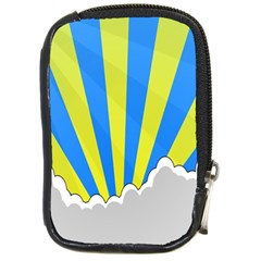 Sunlight Clouds Blue Sky Yellow White Compact Camera Cases by Alisyart
