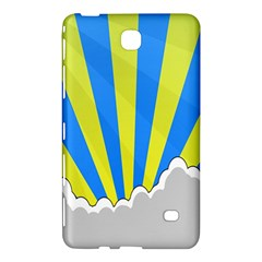 Sunlight Clouds Blue Sky Yellow White Samsung Galaxy Tab 4 (8 ) Hardshell Case  by Alisyart