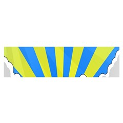 Sunlight Clouds Blue Sky Yellow White Satin Scarf (oblong) by Alisyart