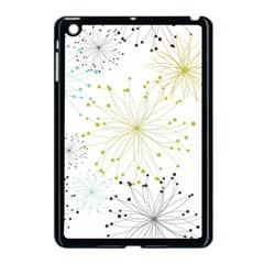 Retro Floral Flower Seamless Gold Blue Brown Apple Ipad Mini Case (black) by Alisyart