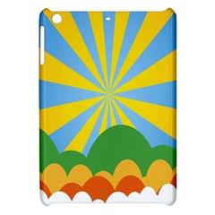 Sunlight Clouds Blue Yellow Green Orange White Sky Apple Ipad Mini Hardshell Case by Alisyart