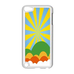 Sunlight Clouds Blue Yellow Green Orange White Sky Apple Ipod Touch 5 Case (white) by Alisyart