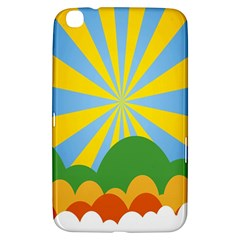 Sunlight Clouds Blue Yellow Green Orange White Sky Samsung Galaxy Tab 3 (8 ) T3100 Hardshell Case  by Alisyart