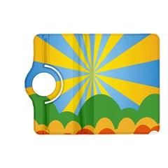 Sunlight Clouds Blue Yellow Green Orange White Sky Kindle Fire Hd (2013) Flip 360 Case by Alisyart