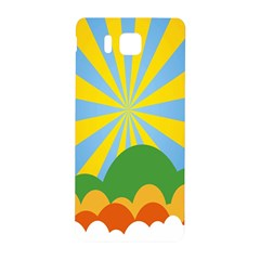 Sunlight Clouds Blue Yellow Green Orange White Sky Samsung Galaxy Alpha Hardshell Back Case by Alisyart