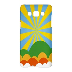 Sunlight Clouds Blue Yellow Green Orange White Sky Samsung Galaxy A5 Hardshell Case  by Alisyart