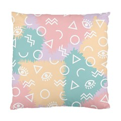 Triangle Circle Wave Eye Rainbow Orange Pink Blue Sign Standard Cushion Case (two Sides) by Alisyart