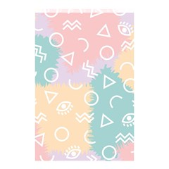 Triangle Circle Wave Eye Rainbow Orange Pink Blue Sign Shower Curtain 48  X 72  (small)  by Alisyart