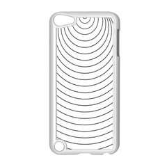 Wave Black White Line Apple Ipod Touch 5 Case (white) by Alisyart