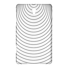 Wave Black White Line Samsung Galaxy Tab S (8 4 ) Hardshell Case  by Alisyart