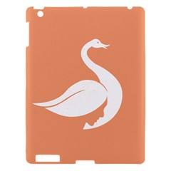Swan Girl Face Hair Face Orange White Apple Ipad 3/4 Hardshell Case by Alisyart