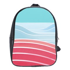 Wave Waves Blue Red School Bags(large)  by Alisyart