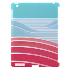 Wave Waves Blue Red Apple Ipad 3/4 Hardshell Case (compatible With Smart Cover) by Alisyart