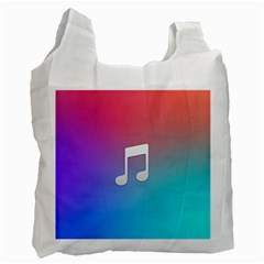 Tunes Sign Orange Purple Blue White Music Notes Recycle Bag (one Side) by Alisyart