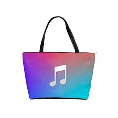Tunes Sign Orange Purple Blue White Music Notes Shoulder Handbags by Alisyart