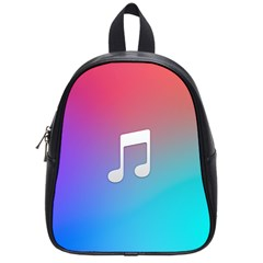 Tunes Sign Orange Purple Blue White Music Notes School Bags (small)  by Alisyart
