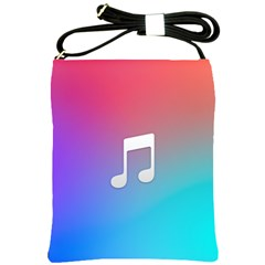 Tunes Sign Orange Purple Blue White Music Notes Shoulder Sling Bags by Alisyart