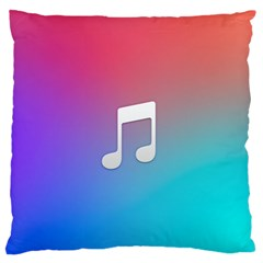 Tunes Sign Orange Purple Blue White Music Notes Standard Flano Cushion Case (two Sides) by Alisyart
