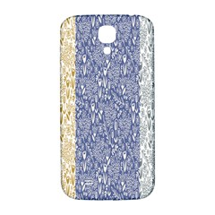 Flower Floral Grey Blue Gold Tulip Samsung Galaxy S4 I9500/i9505  Hardshell Back Case by Alisyart