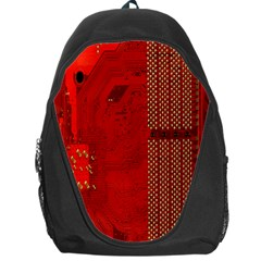 Computer Texture Red Motherboard Circuit Backpack Bag by Simbadda