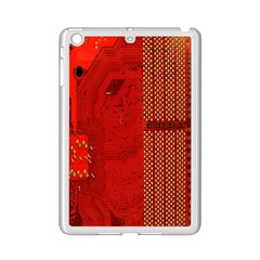 Computer Texture Red Motherboard Circuit iPad Mini 2 Enamel Coated Cases by Simbadda