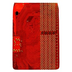 Computer Texture Red Motherboard Circuit Flap Covers (s)  by Simbadda