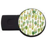 Flowers Pattern USB Flash Drive Round (2 GB) Front