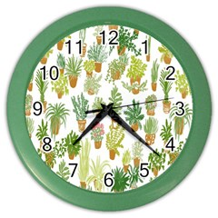 Flowers Pattern Color Wall Clocks
