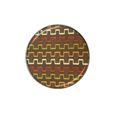 Fabric Texture Vintage Retro 70s Zig Zag Pattern Hat Clip Ball Marker (4 Pack) by Simbadda