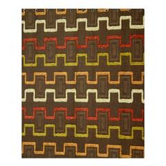 Fabric Texture Vintage Retro 70s Zig Zag Pattern Shower Curtain 60  X 72  (medium)  by Simbadda