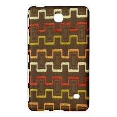Fabric Texture Vintage Retro 70s Zig Zag Pattern Samsung Galaxy Tab 4 (7 ) Hardshell Case  by Simbadda