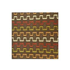Fabric Texture Vintage Retro 70s Zig Zag Pattern Satin Bandana Scarf by Simbadda