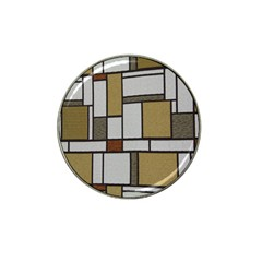 Fabric Textures Fabric Texture Vintage Blocks Rectangle Pattern Hat Clip Ball Marker (4 Pack) by Simbadda