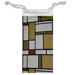 Fabric Textures Fabric Texture Vintage Blocks Rectangle Pattern Jewelry Bag Back