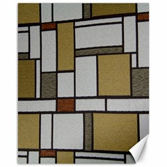 Fabric Textures Fabric Texture Vintage Blocks Rectangle Pattern Canvas 16  X 20   by Simbadda