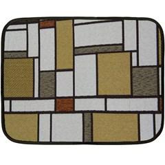Fabric Textures Fabric Texture Vintage Blocks Rectangle Pattern Fleece Blanket (mini) by Simbadda
