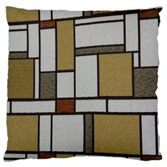 Fabric Textures Fabric Texture Vintage Blocks Rectangle Pattern Large Cushion Case (two Sides)