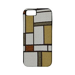 Fabric Textures Fabric Texture Vintage Blocks Rectangle Pattern Apple Iphone 5 Classic Hardshell Case (pc+silicone) by Simbadda